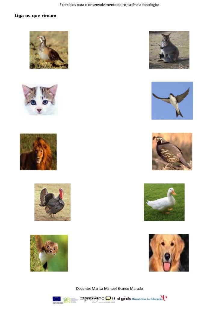 Exercícios de consciência fonológica 1