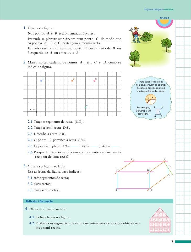 Ângulos e triângulos   Unidade 6                                                                                          ...
