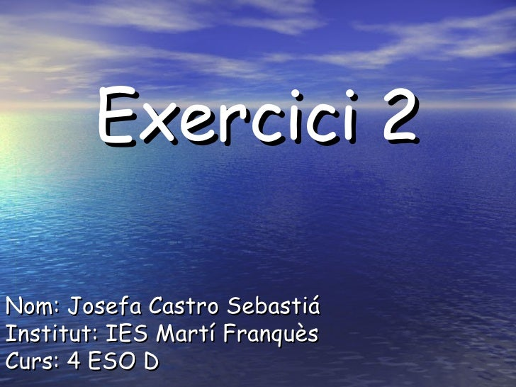 Exercici 2