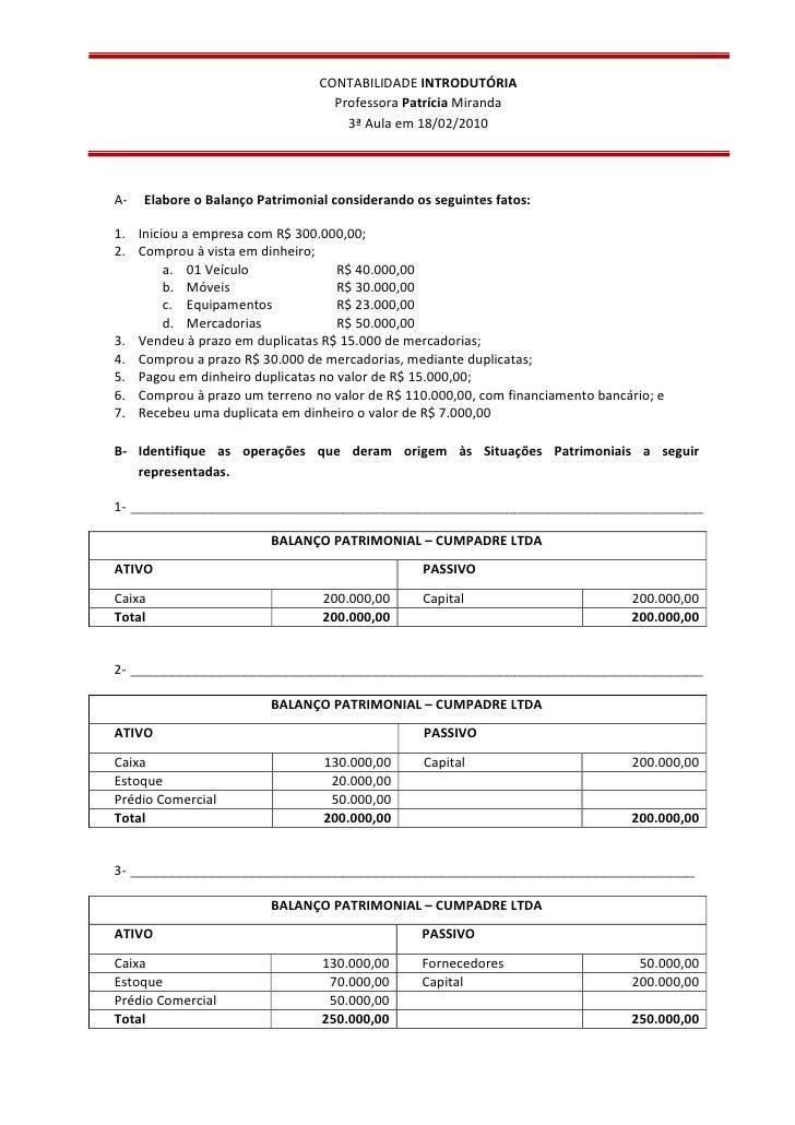 Exercicios contabilidade 01 gabarito