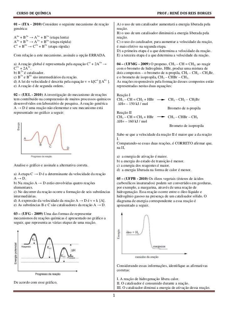 Exercicios de cinetica_quimica