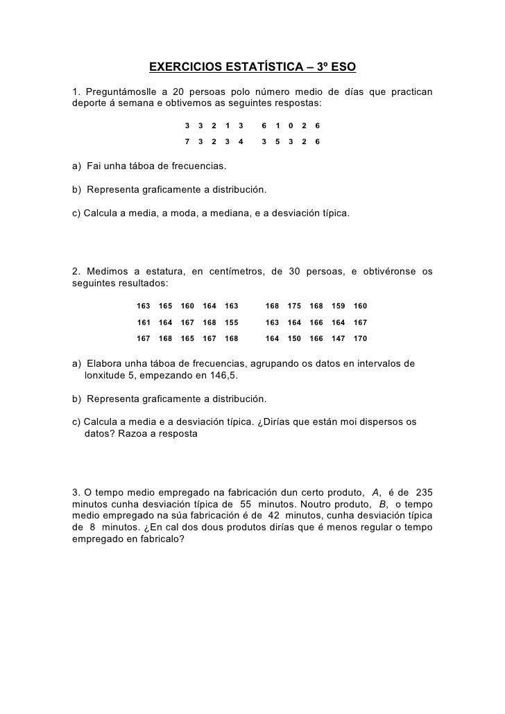 Exercicios estatística