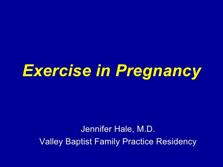 Exercise In Pregnancy1