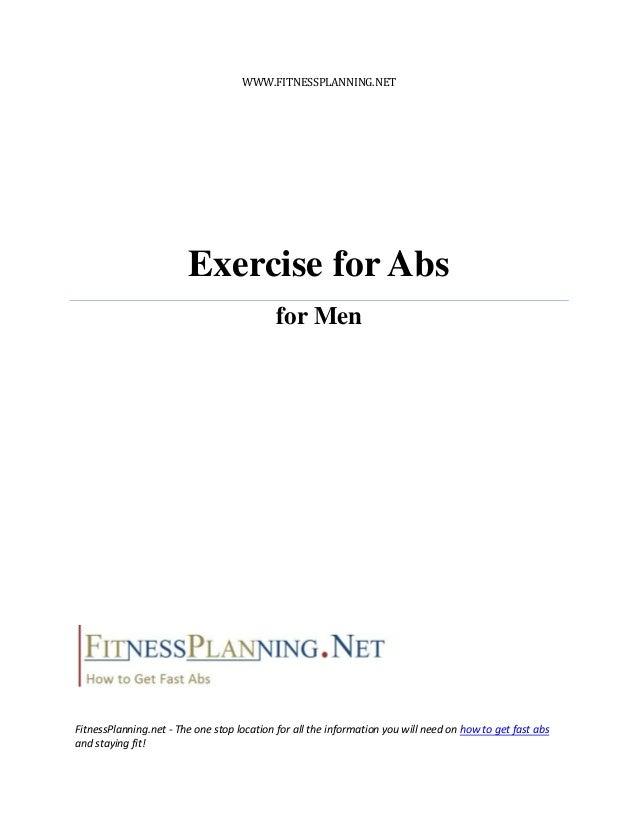 WWW.FITNESSPLANNING.NET                        Exercise for Abs                                            for MenFitnessP...