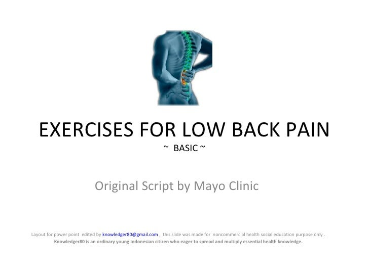 Exercise for low back pain mayo clinic