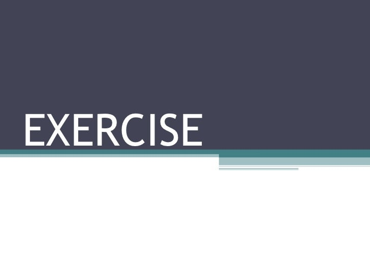 Exercise  pp