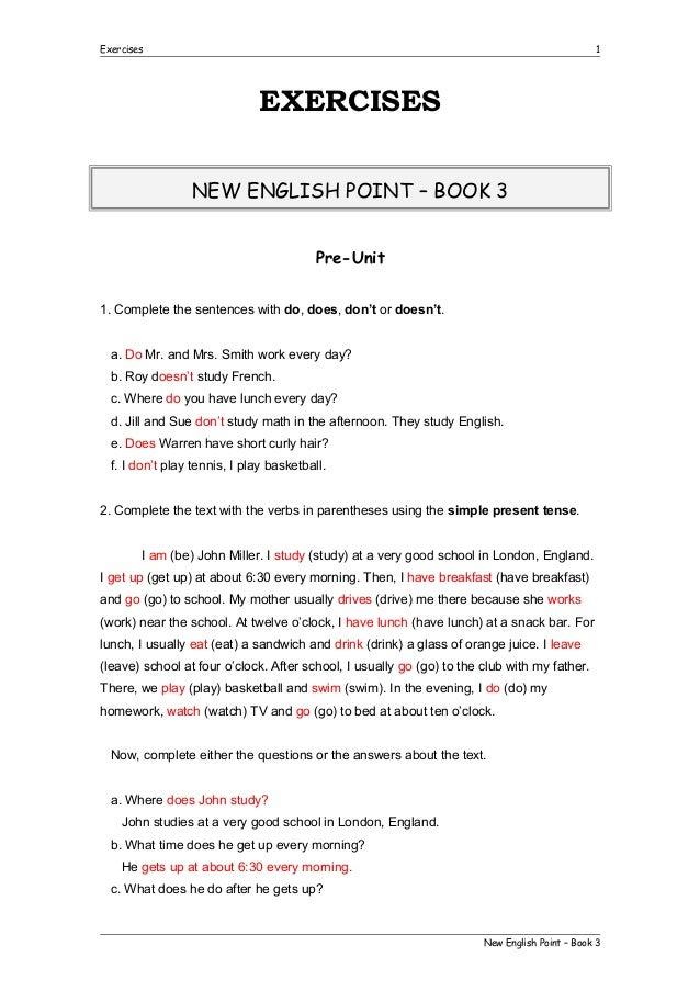 Exercises book 3 com resposta