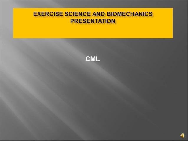 Exercise Science and Biomechanics presentation
