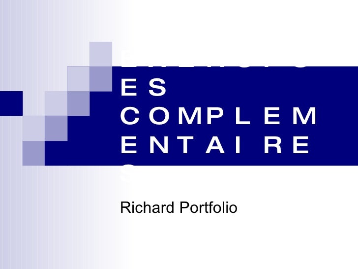 EXERCISES COMPLEMENTAIRES Richard Portfolio