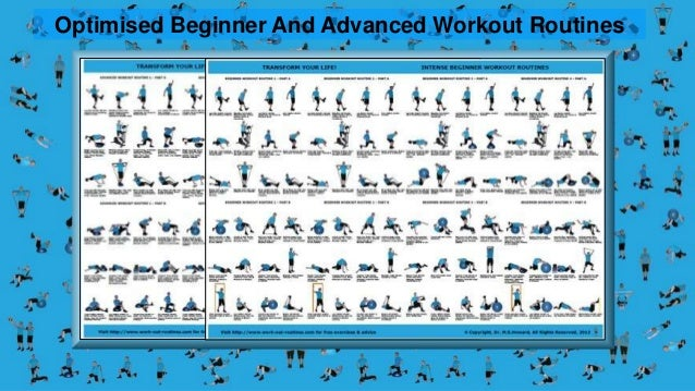 Exercise Workout Routines Posters