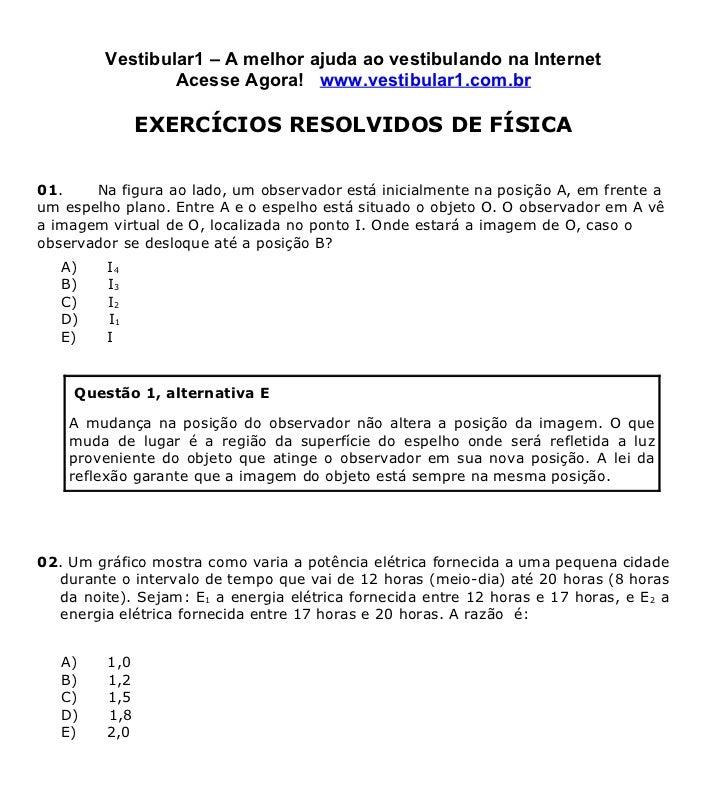 Exercicios de Física