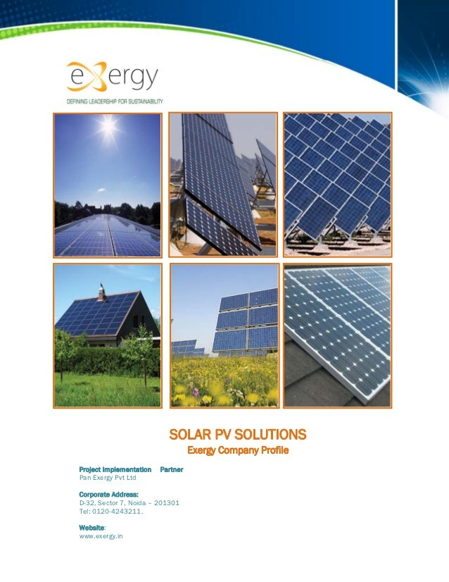 SOLAR PV SOLUTIONS                                       Exergy Company Profile ...
