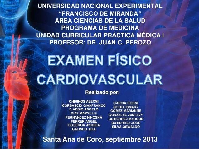 Ex fisico cardiovascular