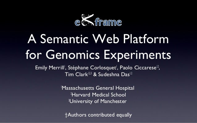 eXframe: A Semantic Web Platform for Genomic Experiments