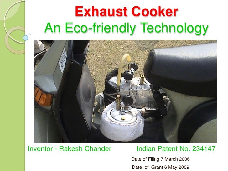 Exhaust Cooker   Eco Friendly Technology