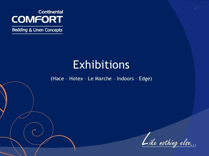 Exhibitions (Hace – Hotex – Le Marche – Indoors – Edge)
