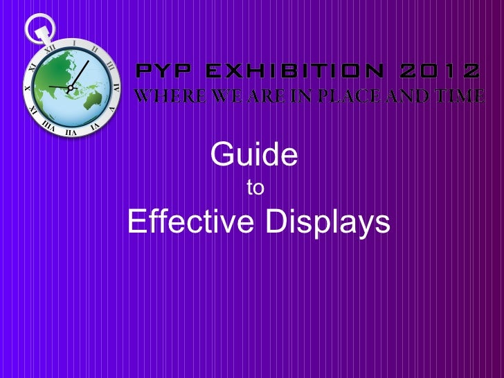 Exhibition display 2012