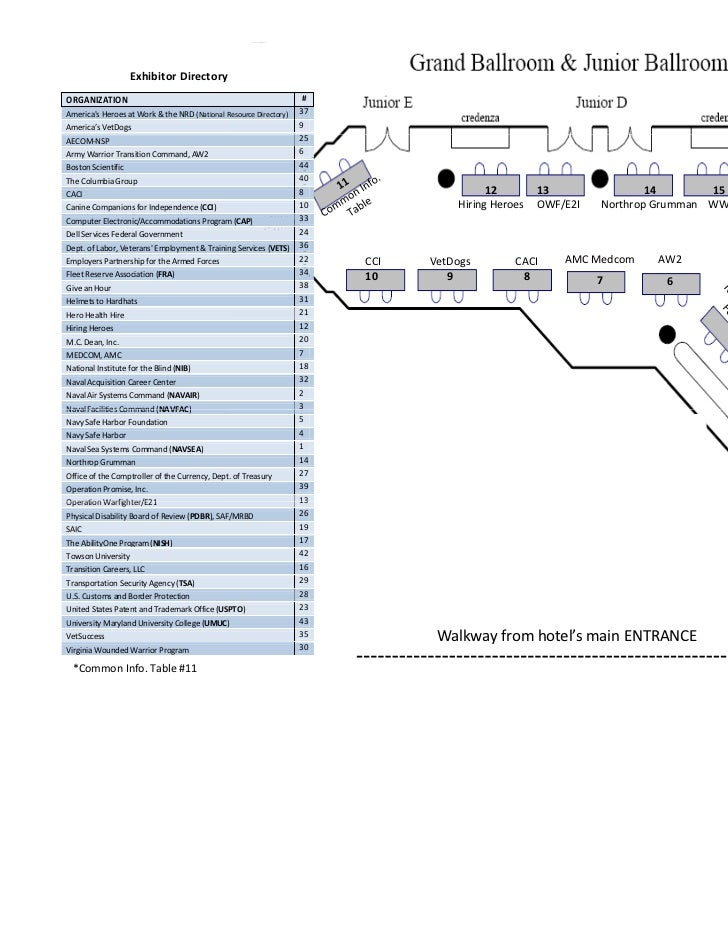 Exhibitor Layout Nov 2011