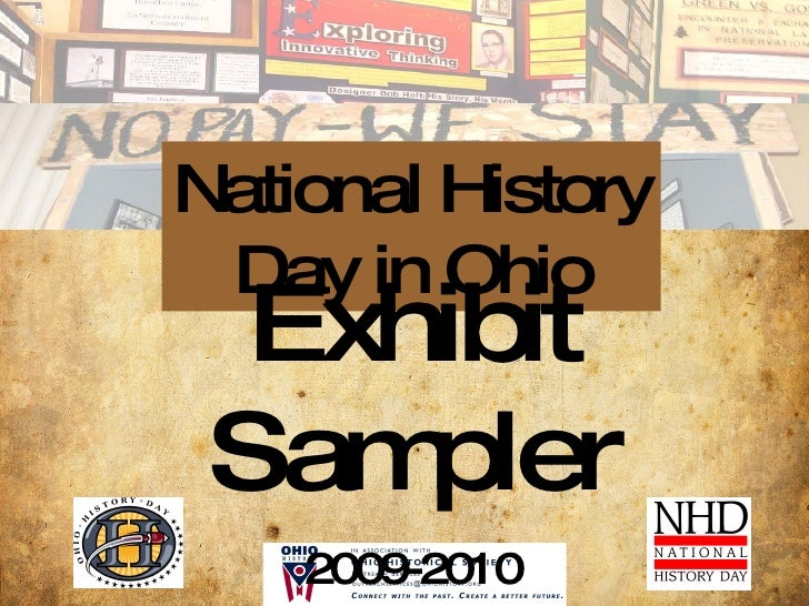 National History Day in Ohio Exhibit Sampler 2009-2010