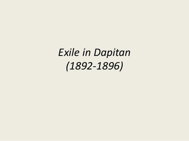 Exile in Dapitan (1892-1896)