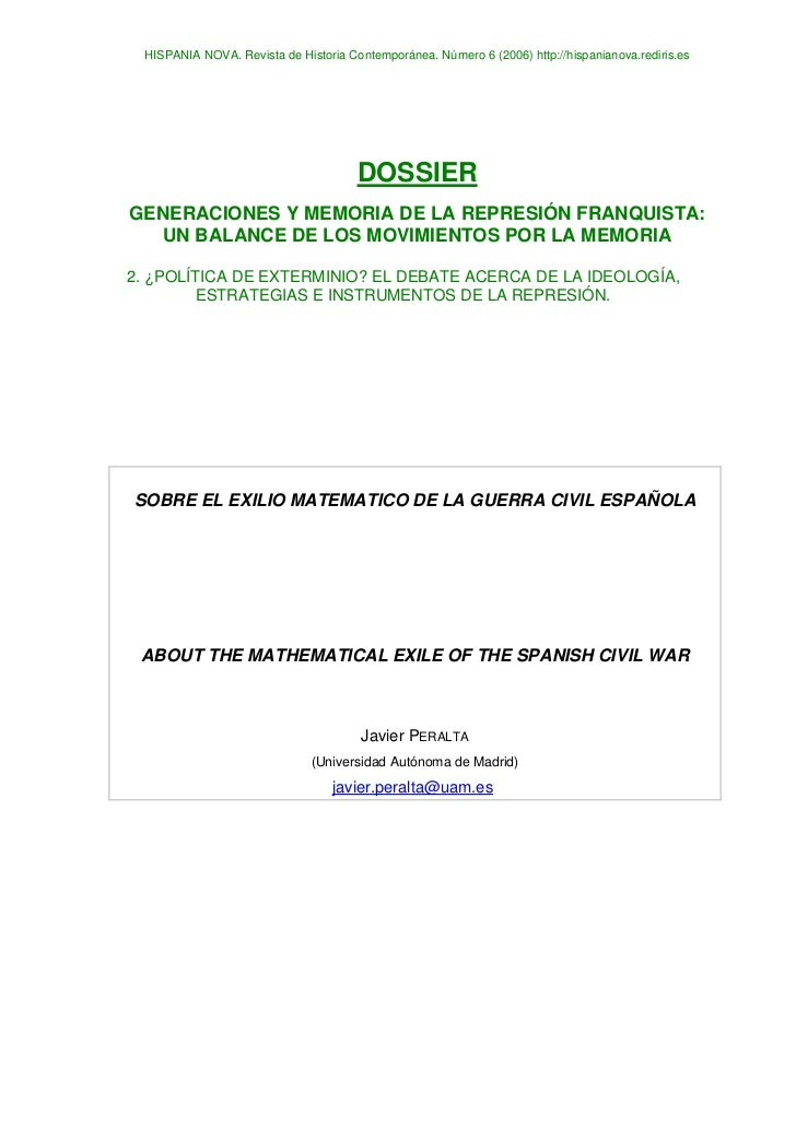 HISPANIA NOVA. Revista de Historia Contemporánea. Número 6 (2006) http://hispanianova.rediris.es                          ...