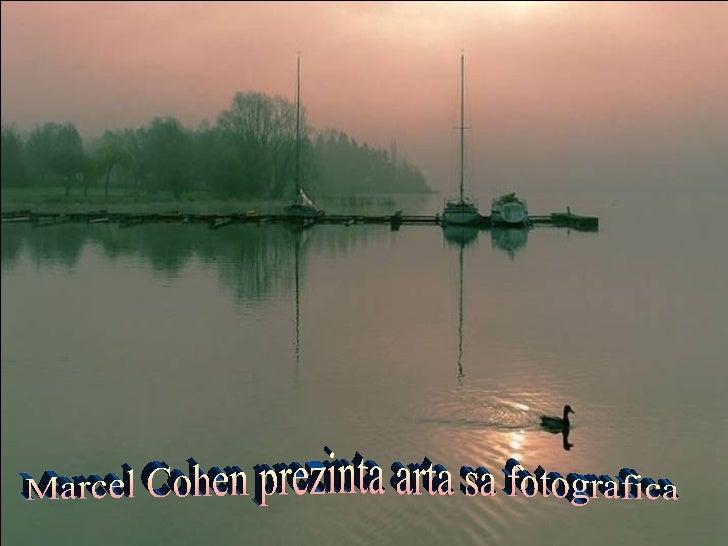Marcel Cohen prezinta arta sa fotografica