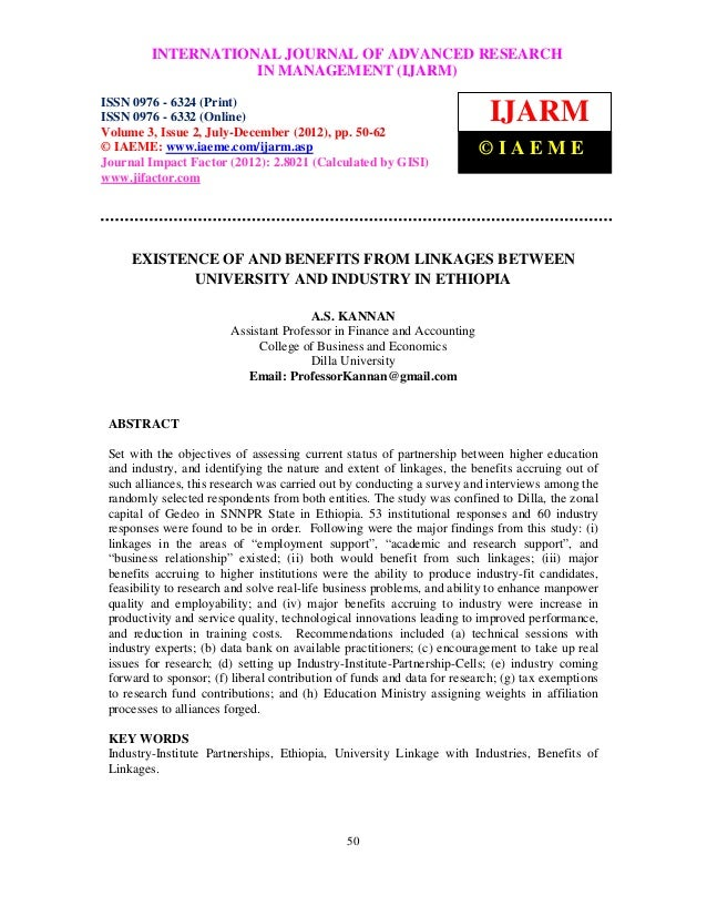 INTERNATIONAL JOURNAL OF ADVANCED RESEARCH International Journal of Advanced Research in Management (IJARM), ISSN 0976 – 6...