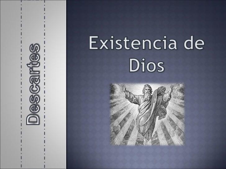 Existencia de dios descartes