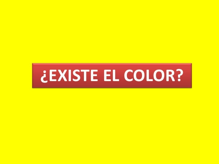 ¿EXISTE EL COLOR?<br />