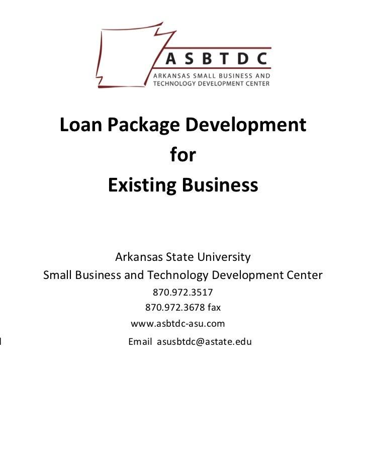 LoanPackageDevelopment                  for           ExistingBusiness       ...