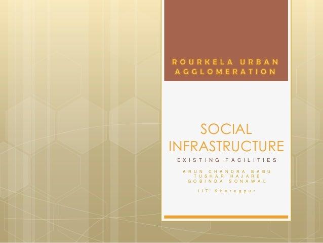 Existing social infrastructure facilities in rourkela, orissa