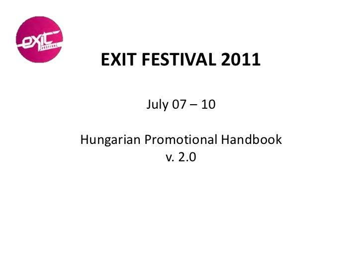 Exit 2011 Promotions Handbook