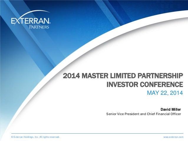 Exlp 2014 mlp investor conference