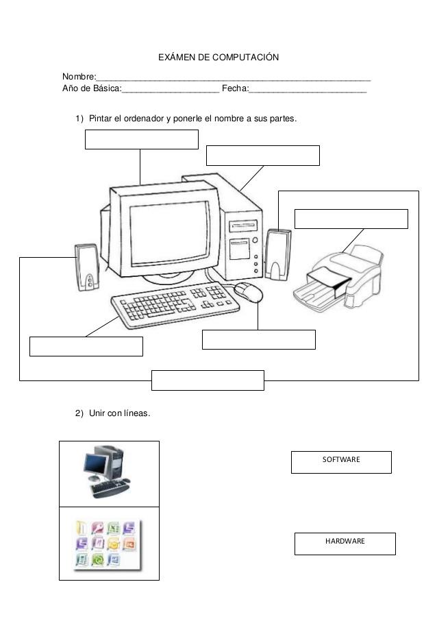 Examenes de computacion para primaria - Imagui