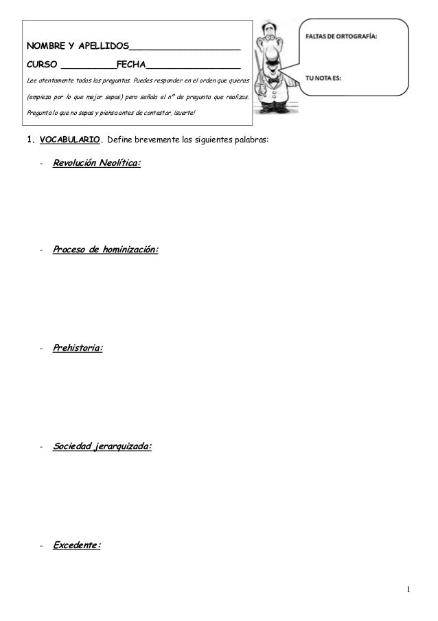 1ºESO Exámenes 1ª Y 2ª evaluación CCSS (2012/2013)