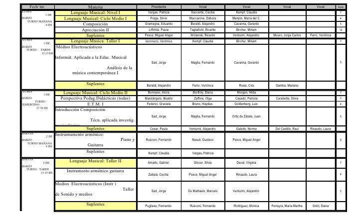 Exámenes Marzo 2010