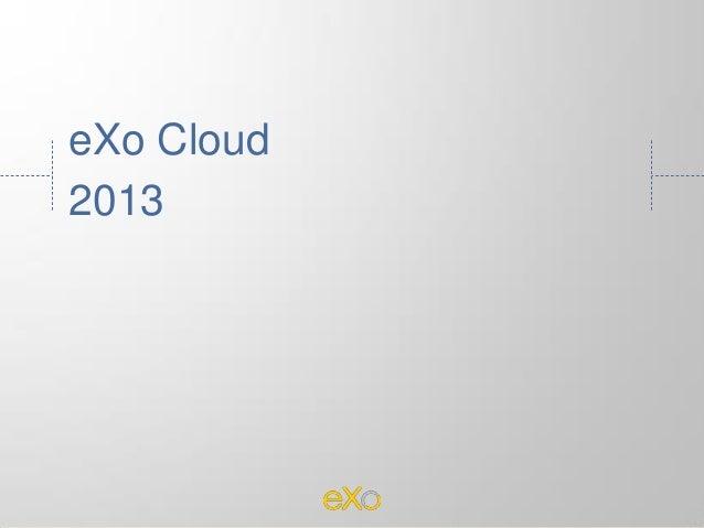 eXo Cloud 2013