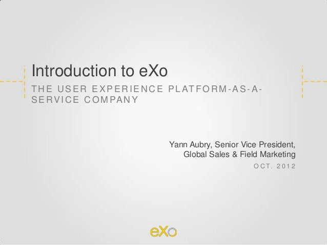 eXo Platform company overview 2012