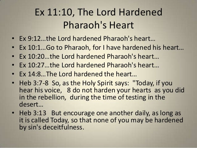the hardening of pharaohs heart