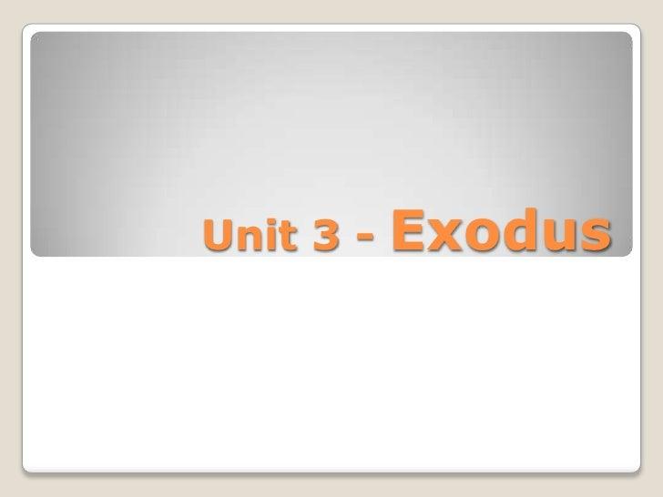 Exodus slides