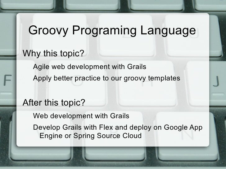 eXo EC - Groovy Programming Language