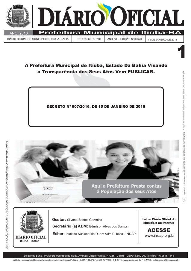 DIÁRIODIÁRIO OFICIALOFICIAL Instituto Nacional de Desenvolvimento em Administração Publica - , :.14 505 177/0001-54, . www...