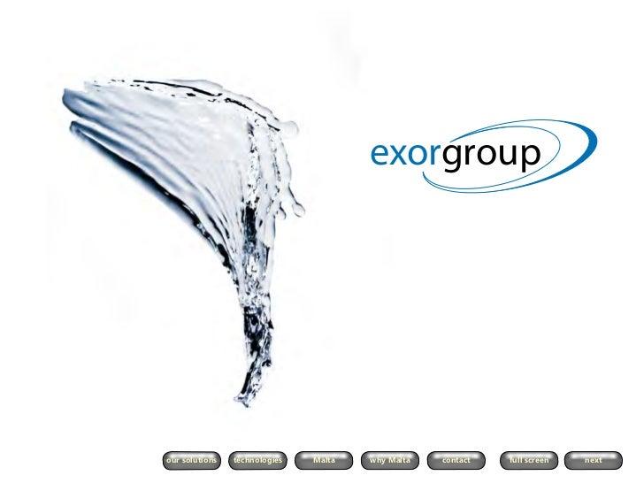 Exor group ltd   company presentation