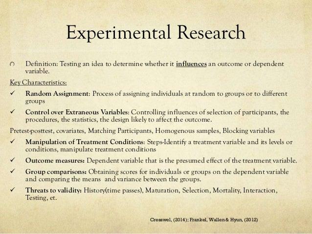 Quasi-experimental design definition