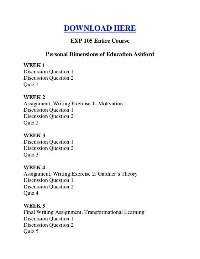 exp 105 week 1 quiz