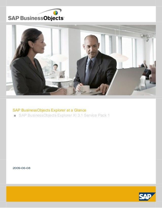 SAP BusinessObjects Explorer at a Glance■ SAP BusinessObjects Explorer XI 3.1 Service Pack 12009-06-08