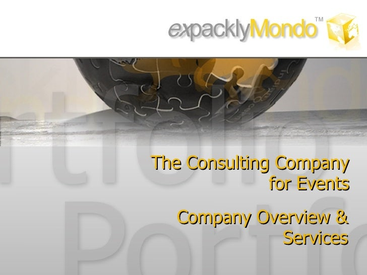 The Consulting Company for Events Company  Overview  & Services