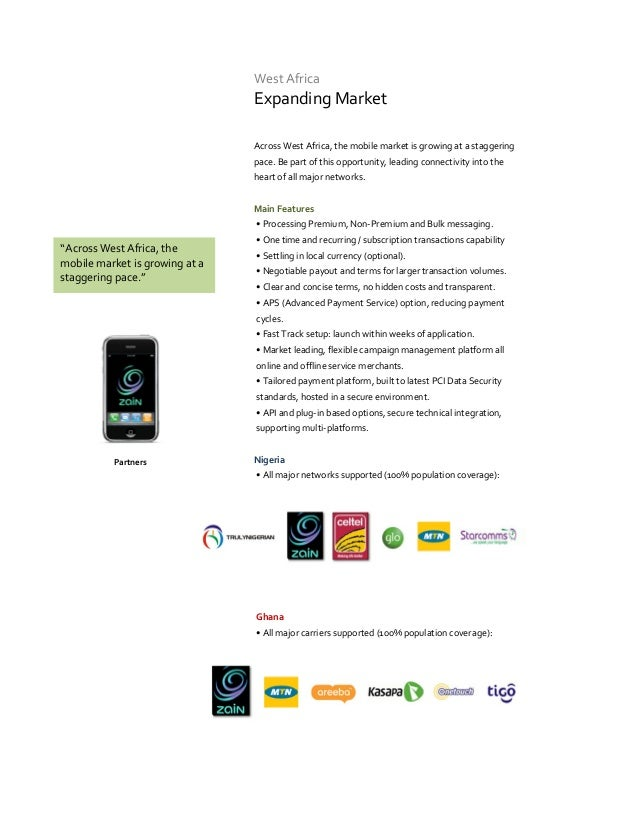 West Africa                                Expanding Market                                Across West Africa, the mobile ...