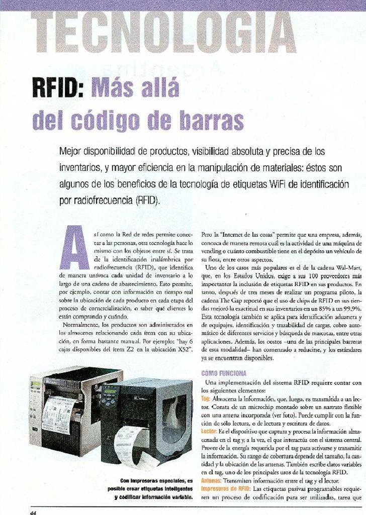 RFID: Más allá del código de barras