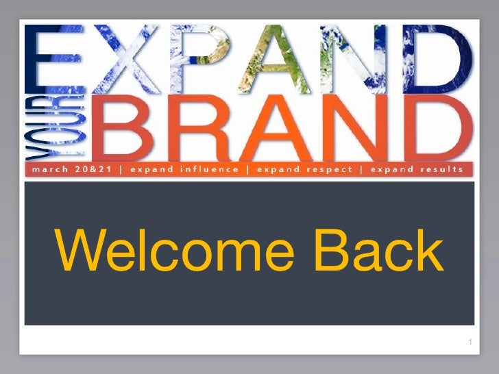 Expand Your Brand Day 2 MC Slides